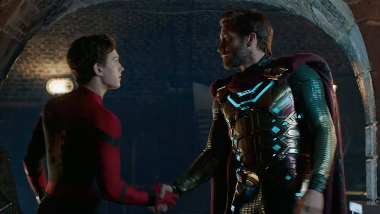 Image result for spider man far from home handshake